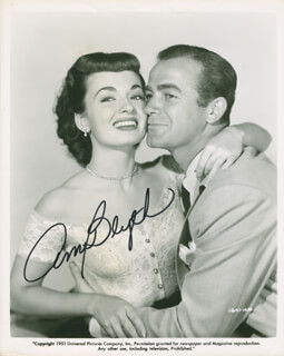ANN BLYTH - PRINTED PHOTOGRAPH SIGNED IN INK