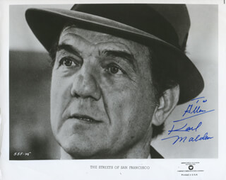 KARL MALDEN - INSCRIBED PRINTED PHOTOGRAPH SIGNED IN INK