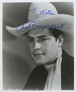 CHARLES DURANGO STARRETT - AUTOGRAPHED INSCRIBED PHOTOGRAPH