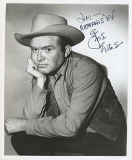 GENE EVANS - AUTOGRAPHED INSCRIBED PHOTOGRAPH 1984