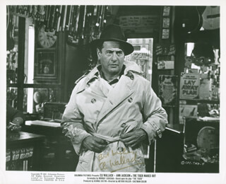 ELI WALLACH - PRINTED PHOTOGRAPH SIGNED IN INK