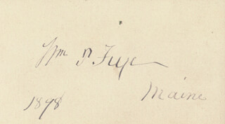 WILLIAM P. FRYE - AUTOGRAPH 1898