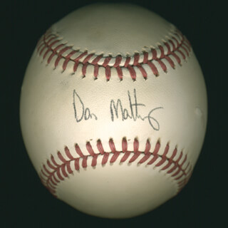 Autographs: DON MATTINGLY - BASEBALL SIGNED