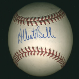 ALBERT JOEY BELLE - AUTOGRAPHED SIGNED BASEBALL