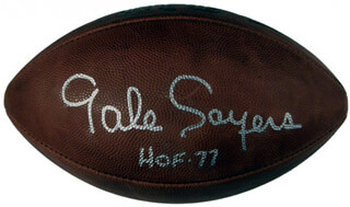 GALE SAYERS - FOOTBALL SIGNED