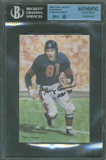 Autographs: GEORGE CONNOR - FOOTBALL HALL OF FAME CARD SIGNED