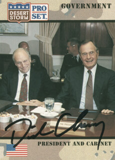 VICE PRESIDENT DICK CHENEY - TRADING/SPORTS CARD SIGNED