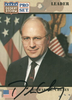 Autographs: VICE PRESIDENT DICK CHENEY - TRADING/SPORTS CARD SIGNED