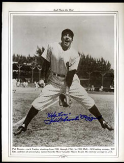 PHIL RIZZUTO - BOOK PHOTOGRAPH SIGNED