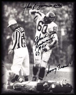 Autographs: CHUCK BEDNARIK - INSCRIBED PHOTOGRAPH SIGNED