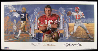 JOE MONTANA - PRINTED ART SIGNED IN INK