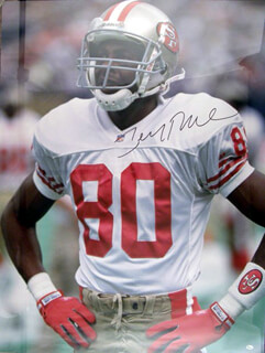 JERRY RICE - AUTOGRAPHED SIGNED POSTER