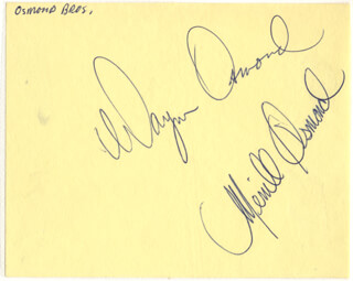 THE OSMONDS - AUTOGRAPH CO-SIGNED BY: THE OSMONDS (MERRILL OSMOND), THE OSMONDS (WAYNE OSMOND)