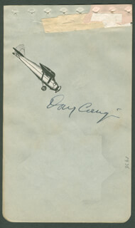 DOUGLAS WRONG WAY CORRIGAN - AUTOGRAPH CIRCA 1938