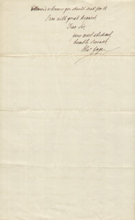 Autographs: GENERAL THOMAS GAGE - AUTOGRAPH LETTER SIGNED 01/16/1768