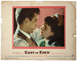 JAMES DEAN - INSCRIBED LOBBY CARD SIGNED