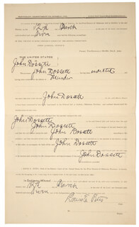 WILLIAM M. BILL TILGHMAN - DOCUMENT SIGNED 03/12/1897 CO-SIGNED BY: PATRICK S. NAGLE, LOUIS E. PITTS
