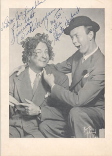 DICK ICKY MORGAN - AUTOGRAPHED INSCRIBED PHOTOGRAPH CO-SIGNED BY: ARTHUR SKEETS HERFURT