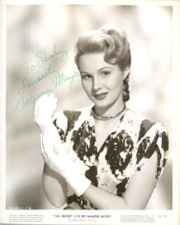 VIRGINIA MAYO - INSCRIBED PRINTED PHOTOGRAPH SIGNED IN INK
