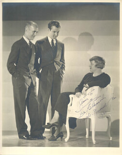 THE HIGGINS FAMILY MOVIE CAST - AUTOGRAPHED INSCRIBED PHOTOGRAPH 1939 CO-SIGNED BY: JAMES GLEASON, LUCILE WEBSTER GLEASON, RUSSELL GLEASON