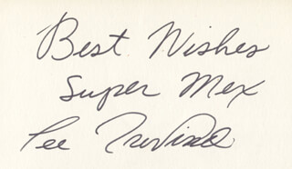 LEE TREVINO - AUTOGRAPH SENTIMENT SIGNED