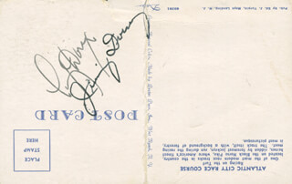 Autographs: JIMMY DORSEY - INSCRIBED PICTURE POSTCARD SIGNED