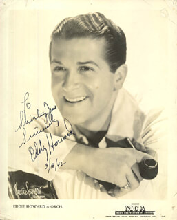 EDDY HOWARD - AUTOGRAPHED INSCRIBED PHOTOGRAPH 03/18/1942
