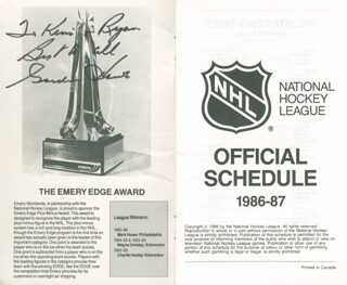 GORDIE HOWE - INSCRIBED PAMPHLET SIGNED
