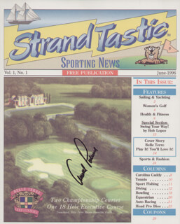 ARNOLD PALMER - MAGAZINE COVER SIGNED