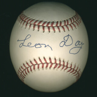 Autographs: LEON DAY - BASEBALL SIGNED