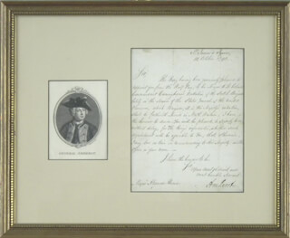 Autographs: JEFFERY AMHERST - MANUSCRIPT LETTER SIGNED 10/10/1793
