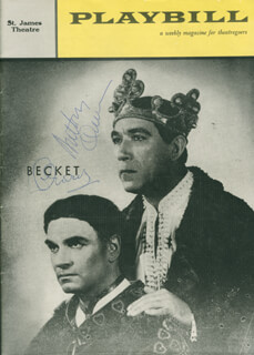 Autographs: BECKET PLAY CAST - SHOW BILL SIGNED CO-SIGNED BY: LAURENCE OLIVIER, ANTHONY QUINN