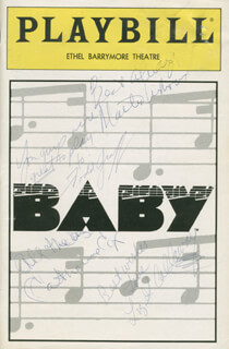 Autographs: BABY PLAY CAST - SHOW BILL SIGNED CO-SIGNED BY: TODD GRAFF, CATHERINE COX, LIZ CALLAWAY, MARTIN VIDNOVIC