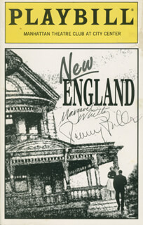 NEW ENGLAND PLAY CAST - SHOW BILL SIGNED CO-SIGNED BY: MARGARET WHITTON, PENNY FULLER