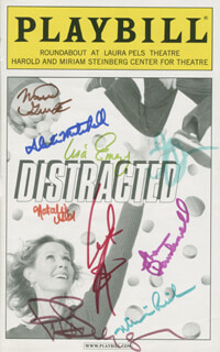 DISTRACTED PLAY CAST - SHOW BILL SIGNED CO-SIGNED BY: CYNTHIA NIXON, MATTHEW GUMLEY, ALEXA MITCHELL, LISA EMERY, NATALIE GOLD, SHANA DOWSEDWELL, JOSH STAMBERG, MIMI LIEBER, PETER BENSON