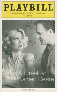 Autographs: A STREETCAR NAMED DESIRE PLAY CAST - SHOW BILL SIGNED CO-SIGNED BY: KRISTINE NIELSEN, JOHN C. REILLY