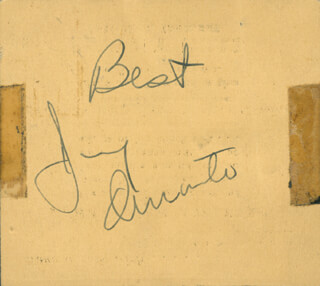 JIMMY SCHNOZZOLA DURANTE - AUTOGRAPH SENTIMENT SIGNED