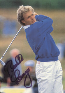 BERNHARD LANGER - PICTURE POST CARD SIGNED