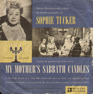 SOPHIE TUCKER - INSCRIBED RECORD ALBUM COVER SIGNED