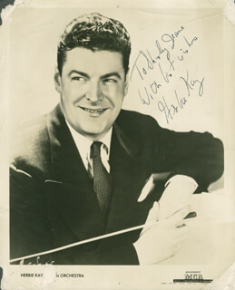 HERBIE KAY - AUTOGRAPHED INSCRIBED PHOTOGRAPH