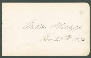 MATHILDE PHILLIPPS - AUTOGRAPH
