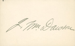 JOHN WILLIAM DAWSON - AUTOGRAPH