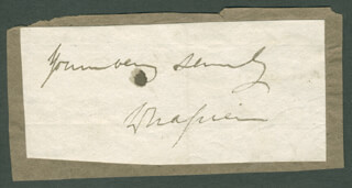 GENERAL WILLIAM NAPIER - AUTOGRAPH SENTIMENT SIGNED