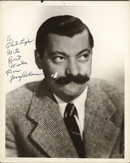 JERRY COLONNA - AUTOGRAPHED INSCRIBED PHOTOGRAPH