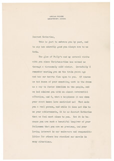 HELEN KELLER - TYPED LETTER SIGNED 03/24/1947