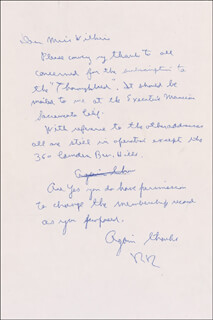 PRESIDENT RONALD REAGAN - AUTOGRAPH LETTER SIGNED