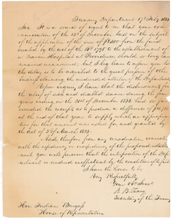CHIEF JUSTICE ROGER B. TANEY - AUTOGRAPH LETTER SIGNED