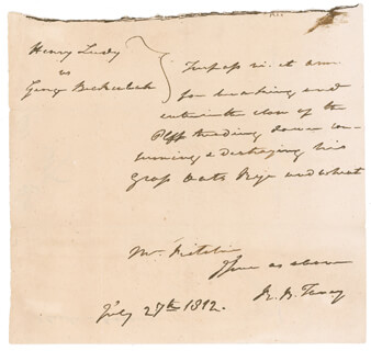 Autographs: CHIEF JUSTICE ROGER B. TANEY - AUTOGRAPH DOCUMENT SIGNED