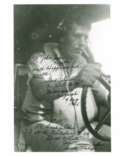 BOCK'S CAR CREW (FRED OLIVI) - AUTOGRAPHED INSCRIBED PHOTOGRAPH