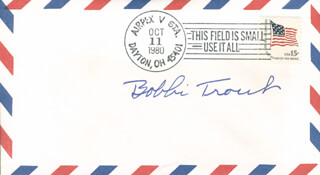 BOBBIE (EVELYN) TROUT - SPECIAL COVER SIGNED